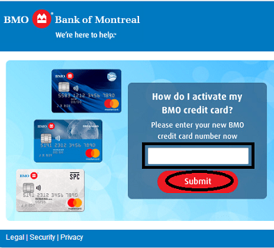 BMO Credit Card Online Activate