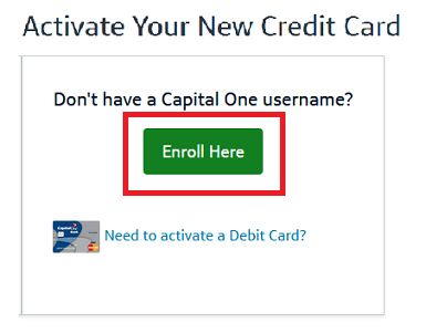 Capital One Credit Card New- Activate