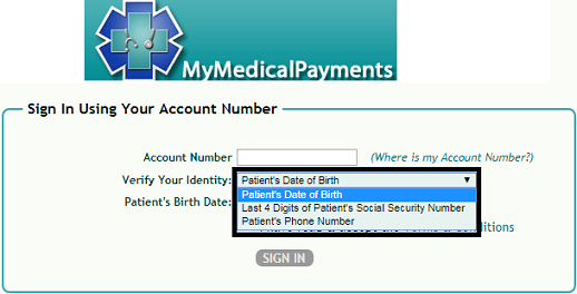 MymedicalPayments Sign-in