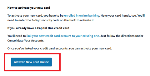 New Capital One Credit Card-Activate