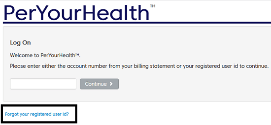 PerYourHealth Account Number