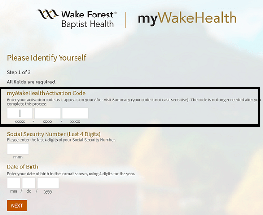 myWakeHealth Bill Pay