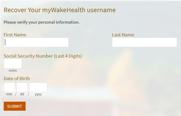 myWakeHealth Pay Bill