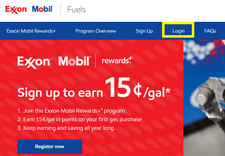 ExxonMobil RewardsPlus Register